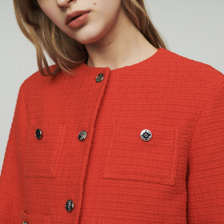 Cropped tweed jacket : Blazers color Ecru