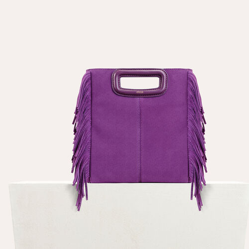 Suede M bag : See all color Purple