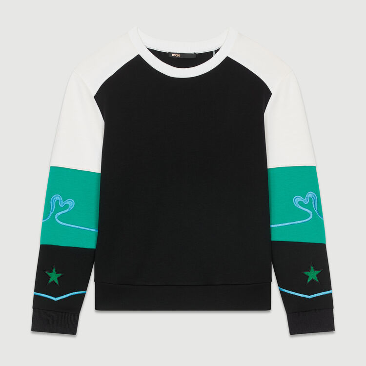 Multicolor Neoprene sweatshirt : Sweatshirts color Multico