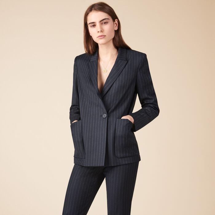 Striped blazer - THE MAJE WOMAN - MAJE