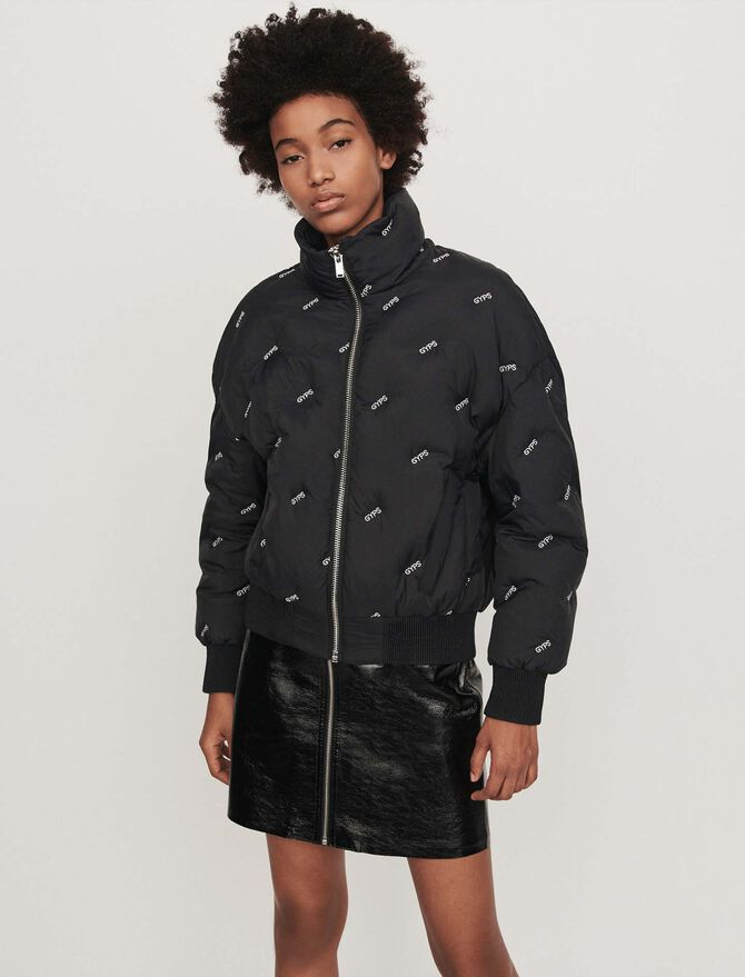 Embroidered cropped puffer - Jackets & Blazers - MAJE