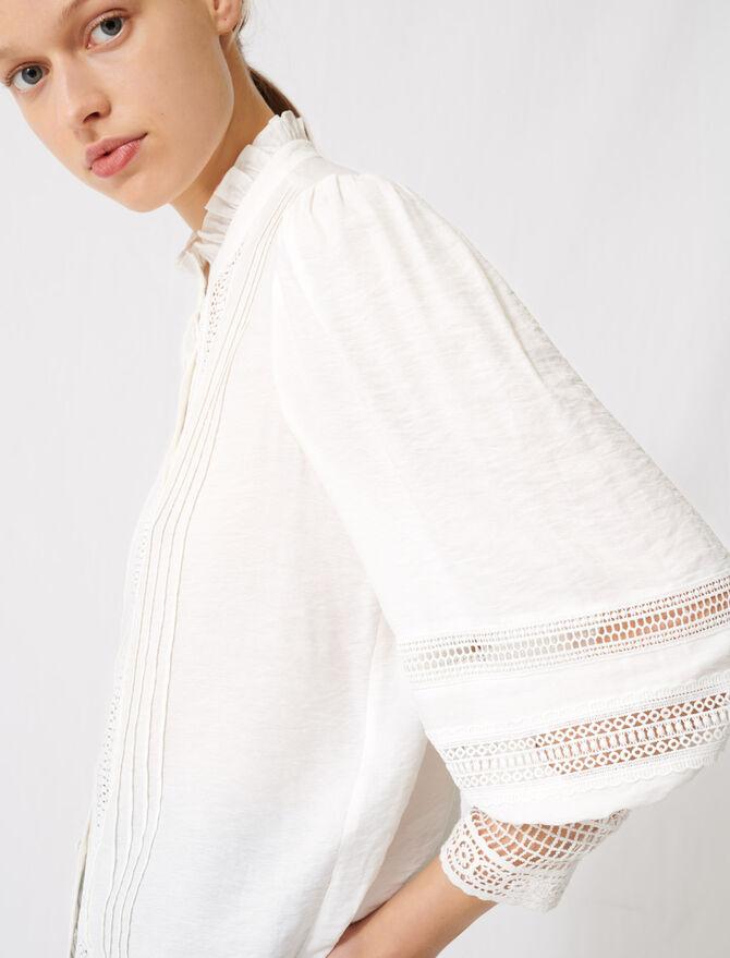Romantic cotton and lace shirt -  - MAJE
