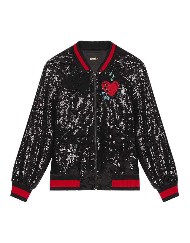 Sequin varsity jacket - Jackets - MAJE