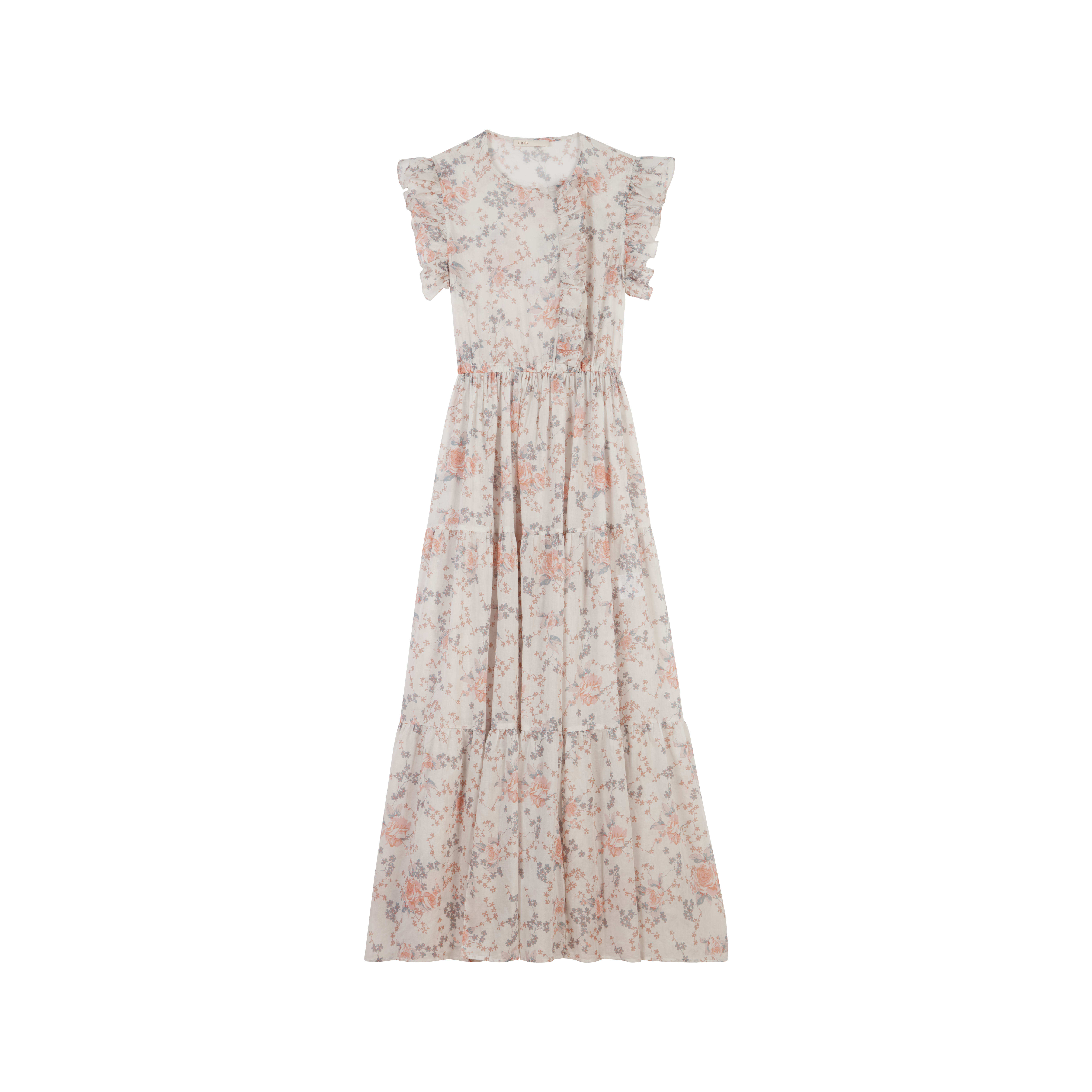 Long floral-print ruffled dress - Dresses - MAJE