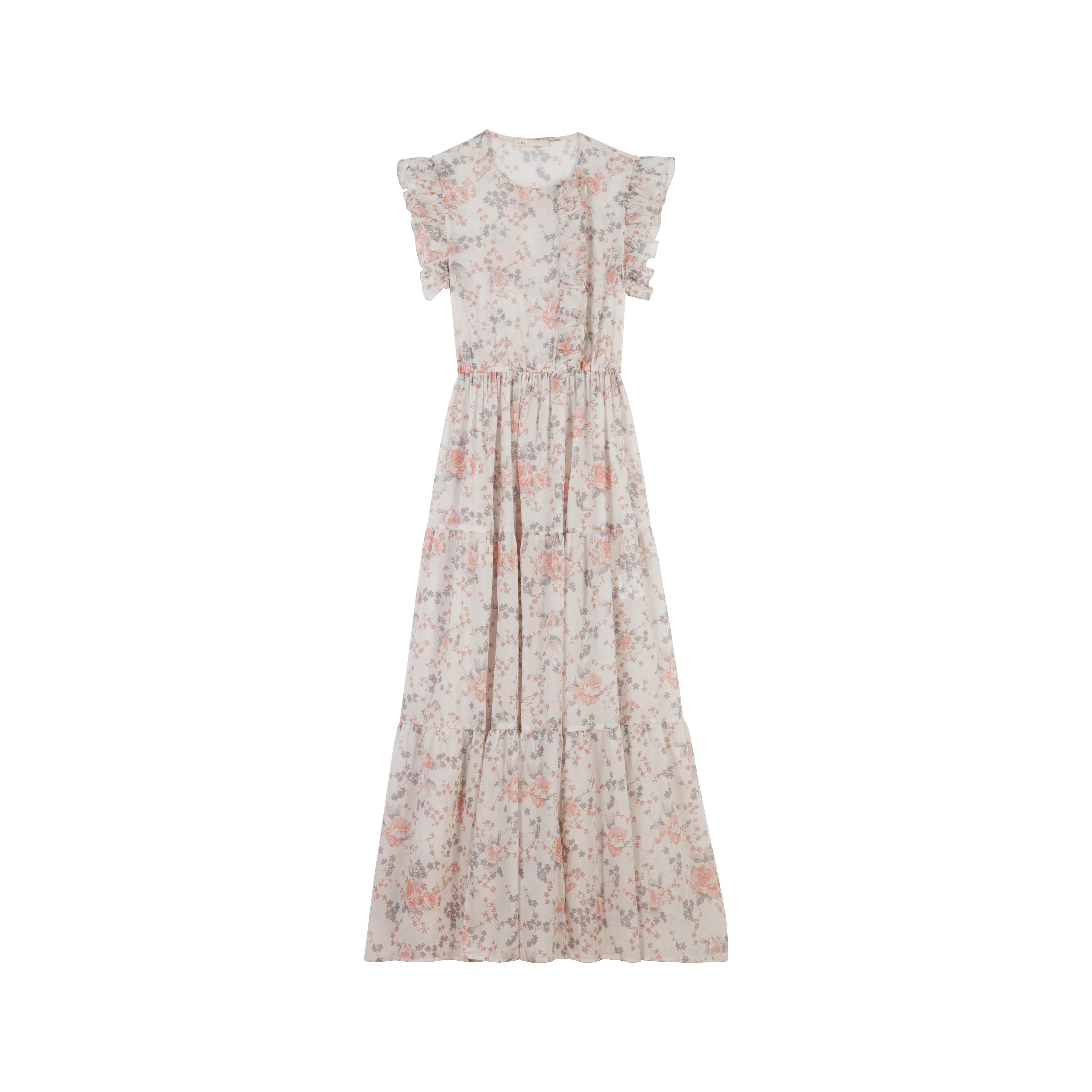 32796c75ff19 Long floral-print ruffled dress - Dresses - MAJE