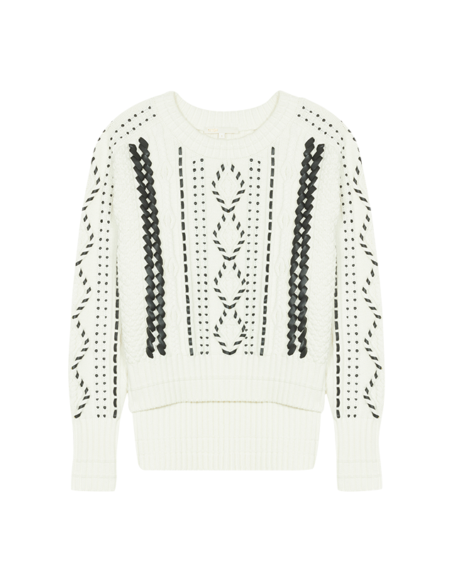 Cable knit jumper - Knitwear - MAJE