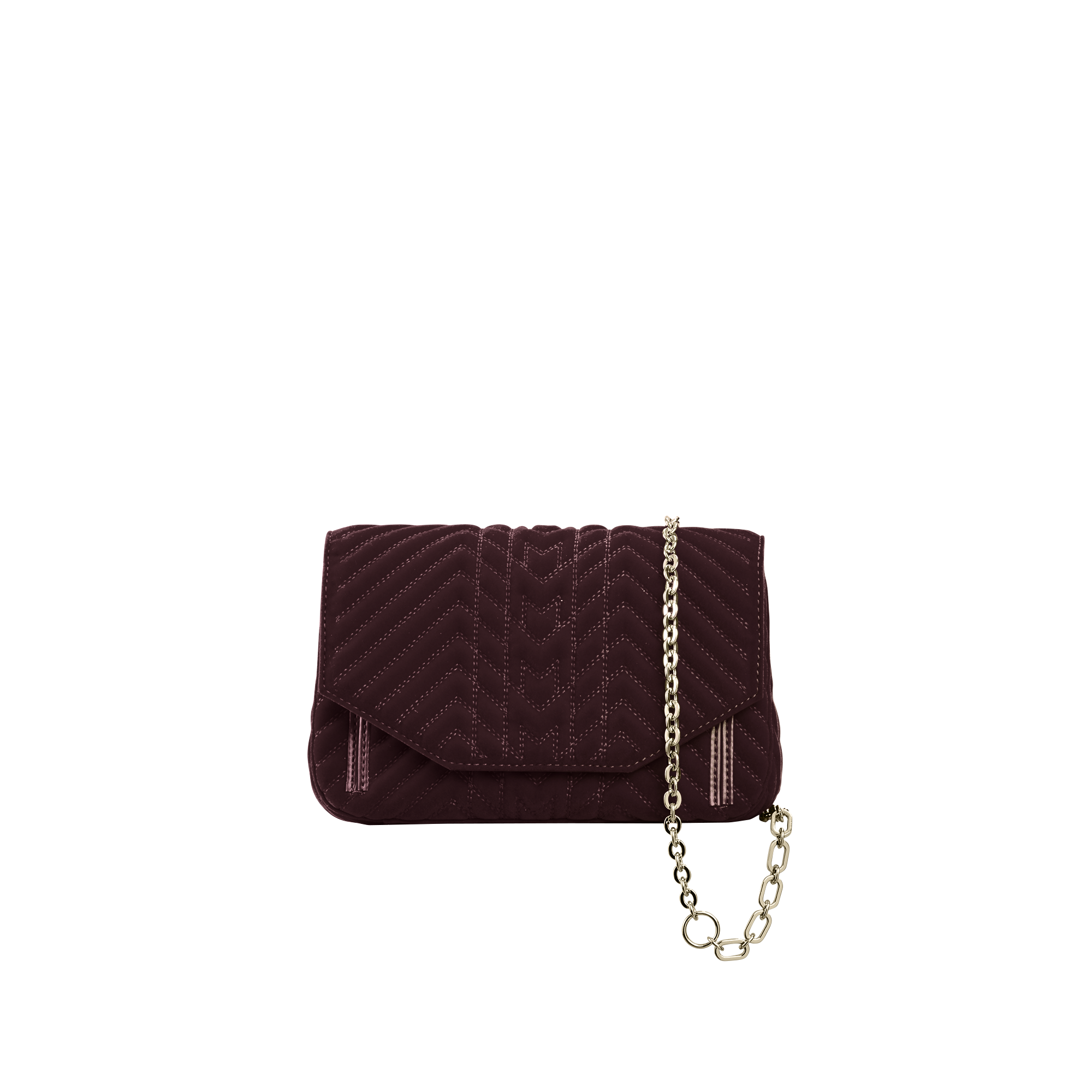 Quilted velvet evening bag - Shoulder bag - MAJE