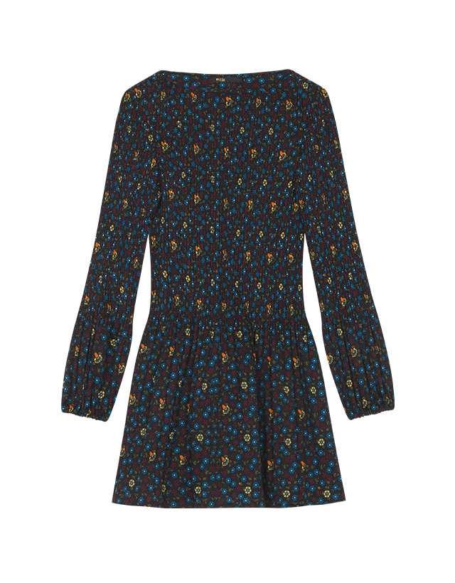 Pleated printed dress - Dresses - MAJE