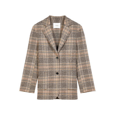 Checked jacket-style coat - Summer collection - MAJE