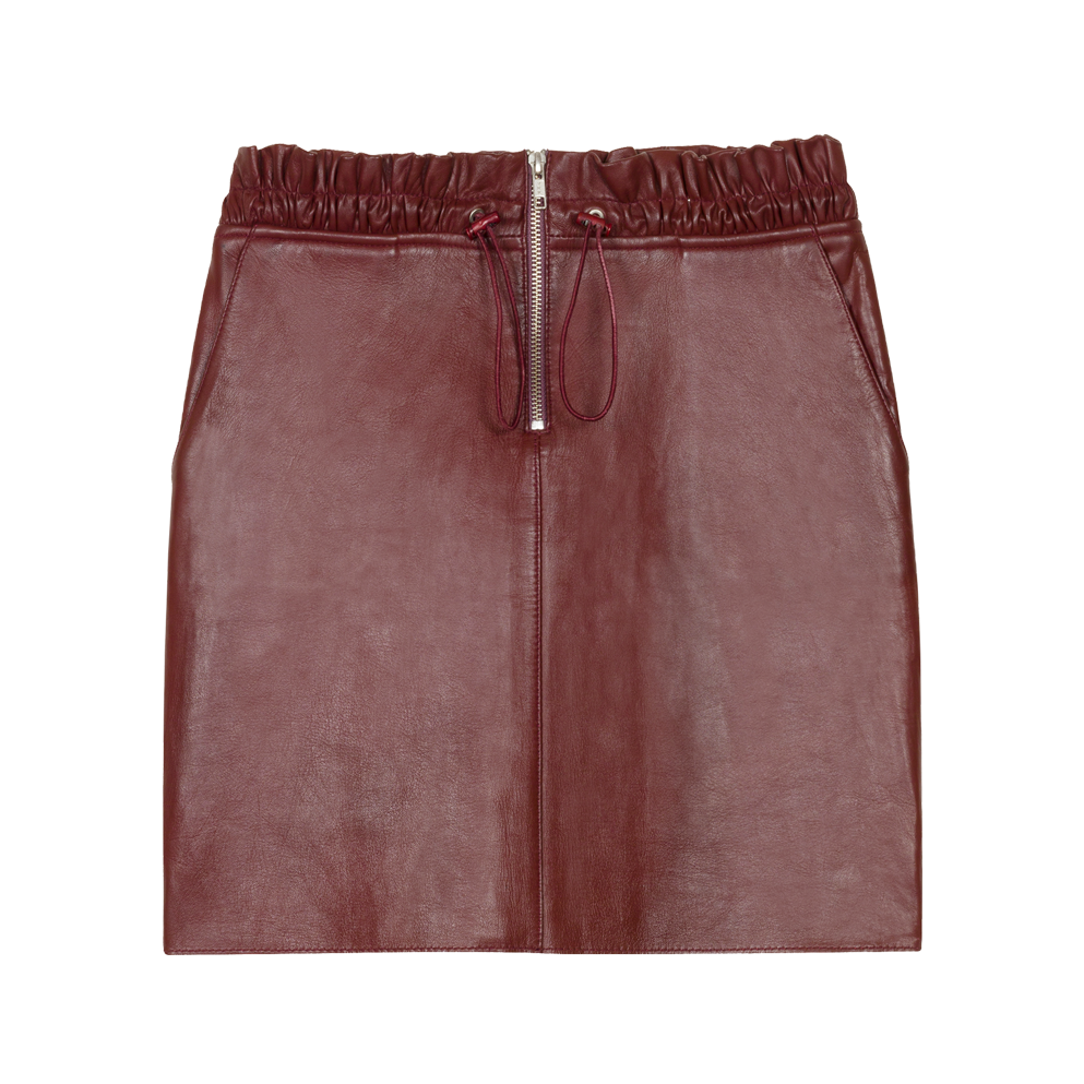Zipped leather skirt - Skirts & Shorts - MAJE