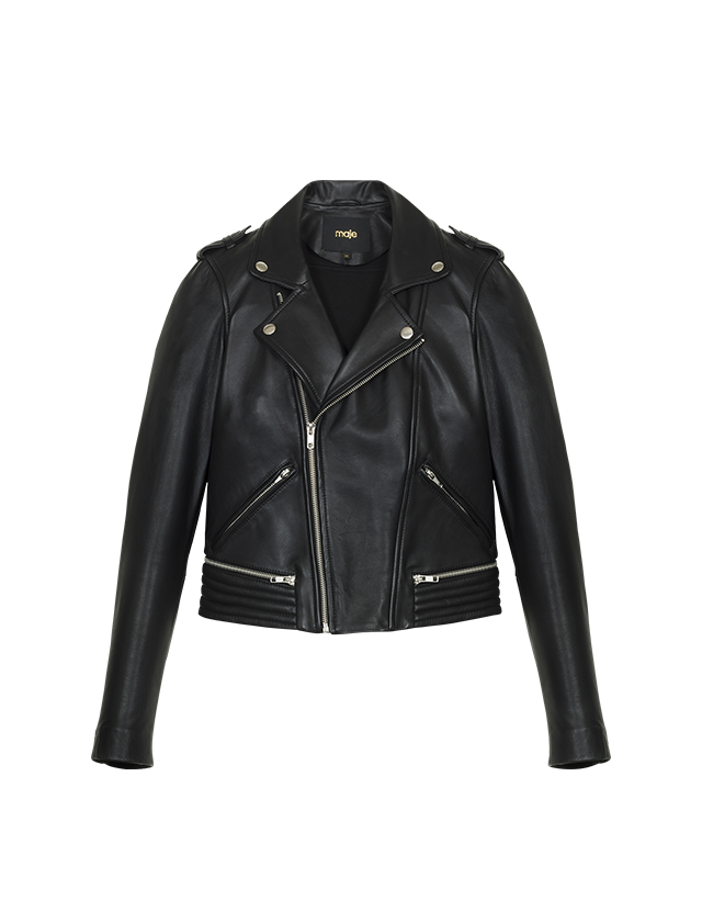 Leather jacket    - Pre-collection - MAJE