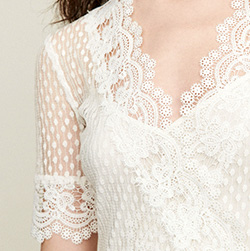 Long Swiss dot dress